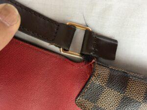 Louis Vuitton ヴィトンバッグ ショルダー付け根革修理