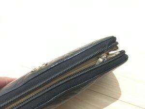 【財布修理】CHANEL シャネル財布 ファスナー交換修理