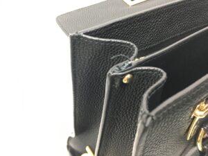 【かばん修理】フェラガモ バッグ ショルダー付け根革交換修理