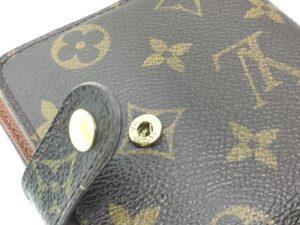 【財布修理】Louis Vuitton ヴィトン財布 ほつれ縫い直し、ホック交換